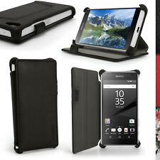 PU Leather Flip Case for Sony Xperia Z5 Compact E5803 Stand Cover + Screen Prot