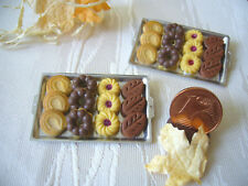 =1 TABLETT KEKSE= Bäckerei Kaufladen Fimo Puppenstubenminiatur 1:12 / 1:10 by HW