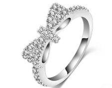 Bow Tie Ring Size 9 Platinum Plated