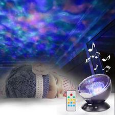 Ocean Wave Music Projector LED Night Light ,Built in High Power Speaker -Black