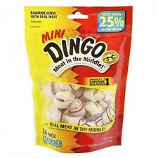 14-Pack: Dingo Mini Original Rawhide Meat Chew Bone Pet Dog Treats