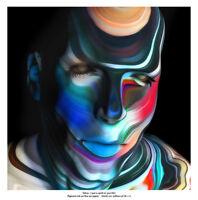 TEHOS - Tableau art  moderne contemporain  abstrait - I put a spell on you V02