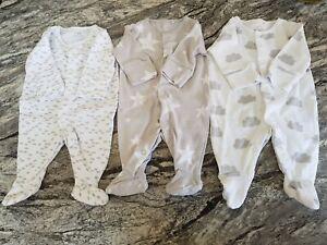 3 Next Baby Boy Sleep Suits First Size