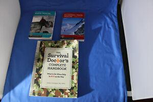 Lot of 3 Survival  Medicine Books, Frontier, Marine, Wilderness, & Survival Doc