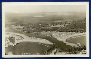 Air View of La Push Washington wa real photo postcard