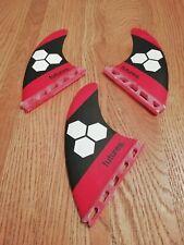 Future Fins Surfboard Fins AM3 - Size Medium - Honeycomb Red Hexagon - Futures