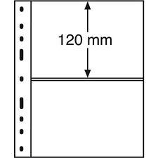10 Pochettes plastiques OPTIMA, 2 compartiments, transparent Réf  309942