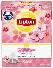 Lipton Sakura Tea 12 tea bags in 1 bag Japan limited blend fllavoured tea