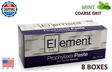 ELEMENT PROPHY PASTE CUPS MINT COARSE 200/BOX DENTAL W/FLUORIDE - 8 BOXES