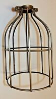 Antique Brass Metal Steel Bulb Cage Industrial Lights Pendant Lamp Guard 10517J