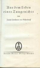 Aus dem Leben eines Taugenichts ,Joseph Freiherr von Eichendorff