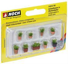 14032 Noch HO, Blumen in Blumentöpfen, Laser-Cut minis, Modelleisenbahn, Hobby