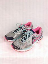 ASICS Womens GT-2000  #T552N Lightning Hot Pink Navy Running Shoe Sz 9.5