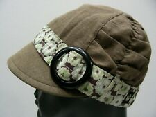 GOORIN BROS - LINEN/COTTON - SMALL SIZE GATSBY CADET STYLE CAP HAT!