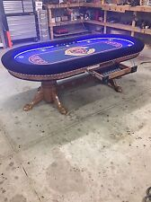 Custom built 4' x 8' professional quality poker tables By kandjpokertables.com