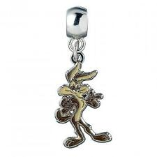 New Official Genuine Looney Tunes Silver Plated Wile E Coyote Slider Charm