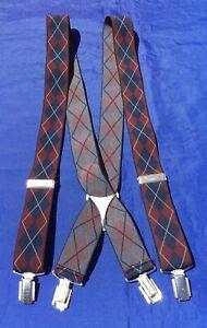 "Classic Vintage CAS ""Diamond"" Clip On Braces M. I. Germany"