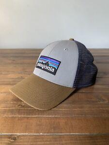 Patagonia P-6 Logo Trucker Hat - Light Brown/Navy