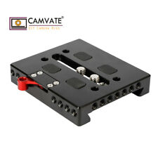CAMVATE Quick Baseplate W/ Locking Lever For ARRI Dovetail Bridge Plate Tripod