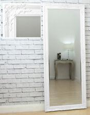 """Kingsbury Large Vintage Ornate Full Length Wall Leaner Mirror White 24"""" x 59"""""""