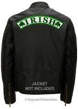 IRISH SHAMROCK BIKER PATCH green clover HUGE BACK SIZE embroidered IRELAND LARGE