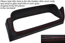 RED STITCH SPEEDO GAUGE SURROUND LEATHER SKIN COVER FITS FORD ESCORT MK2