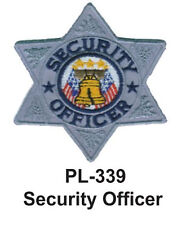 """SECURITY OFFICER(F) EMBROIDERED PATCHES 4"""""""