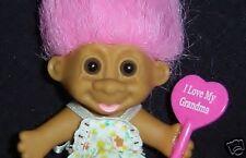 "GRANDMA 3"" Russ Troll Doll RARE New I LOVE GRANDMA"