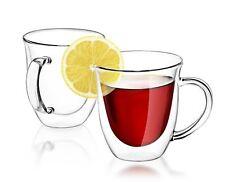 JoyJolt Serene Double Wall Insulated Glass 7.4-ounce Coffee and Tea Mugs