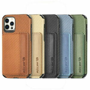 For iPhone 12 Pro Max 11 XS XR X 8 7 Plus Magnetic Flip Card Slot TPU Case Cover