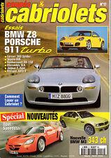 REVUE MAGAZINE COUPES & CABRIOLETS N°17 03/2000 BMW Z8 PORSCHE 911 TURBO BMW M3