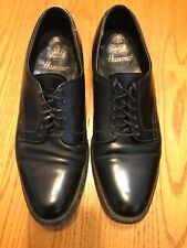 Hanover Imperial Mens Oxfords Black Leather Apron Toe Shoes Size 10 D/B