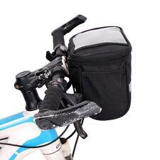 Reflective Striped Cycling Basket Bicycle Handlebar Bag Sports Bike Front Pack