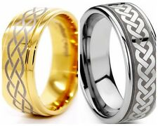 8MM Size 7-15 Celtic Tribal Ring Stainless Steel Irish Puzzle Wedding Engagement
