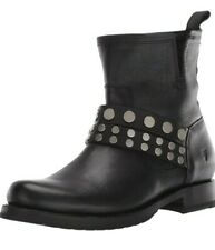 Frye Women's Black Leather Veronica Studded Strap Bootie Boots Size US 7.5 New