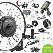 "ebikeling Waterproof 48V 1200W 26"" Direct Drive Front Rear e-Bike Conversion Kit"