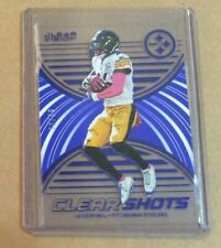 2016 Panini Clear Vision Clear Shot BLUE  LeVeon Bell  #D 70/99  Steelers Jets