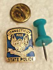 """New listing Connecticut State Police """" Qui Transtulit Sustinet """" Mini Lapel Pin Badge"""