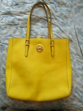 MICHAEL KORS Yellow saffiano Leather  Shoulder Tote Large Bag RRP £250.00