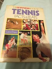 Tennis guiness book facts and feats hardback vintage sport book