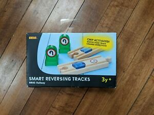 New! ⚡ 4 Piece BRIO Smart Reversing Train Tracks 🇸🇪 SWEDEN DESIGNED Railway ⚡