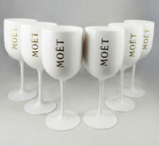 Moet Chandon Ice Imperial Glasses White Acrylic Champagne Glasses NEW Set x 10!