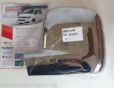 VW Transporter T5 + VW Caddy wing mirror cover trim - CHROME - BRAND NEW - P/S