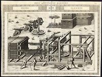 Antique Print-WINCH-HAULING DEVICE-PULLEY-CLXXXIII-Ramelli-Bachot-1588