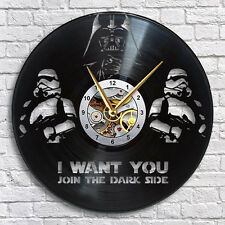 Star Wars Darth Vader Vinyl LP Record Wall Clock