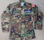 VTG USAF Colorado Civil Air Patrol Woodland Camo BDU Field Shirt Small X Long