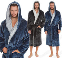 "**NEW** MICHAEL PAUL"" MENS HOODED SUPER SOFT&COSY FLEECE DRESSING GOWN ROBE"