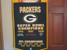 Green Bay Packers Super Bowl Champions Banner by Winning Streak