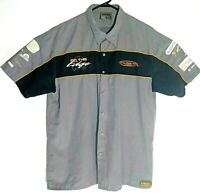 V8 Supercars Australia On the Edge Embroidered Short Sleeve Shirt Size XL