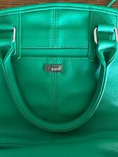 Jewell by thirty-one Green Faux Pebbled Leather Shoulder Satchel Medium Handbag